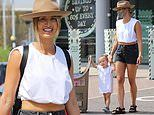 Ferne McCann takes daughter Sunday, 2, toy shopping
