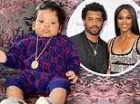 Ciara dresses the three-month-old in a $700 Gucci ensemble
