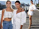 The Bachelor's Brittany Hockley and Helena Sauzier flash the flesh at yacht party
