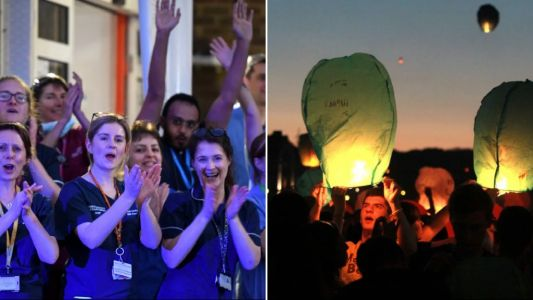 Sky lanterns 'put lives at risk and shouldn't be used during Clap for Carers'