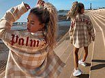 Love Island's Molly-Mae Hague parades her pins in denim shorts and an oversized shirt