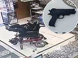 Paralyzed deaf-mute teen tried to rob a jewelry shop in Brazil by holding a fake gun with his feet