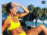 Davinia Taylor, 42, shows off her ripped bikini body as she reflects on her weight loss journey