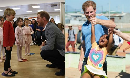 Prince Harry's sweetest moments with kids