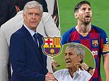 Ex-Arsenal boss Arsene Wenger 'turns down offer to take charge of Barcelona' amid Quique Setien woes
