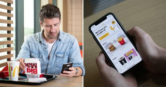 McDonald's now lets you send food to your pals' tables through an app