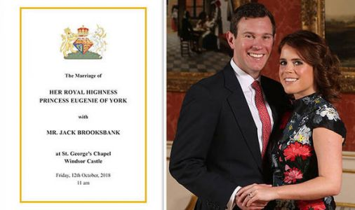 Princess Eugenie wedding: Order of service REVEALED - and it's DIFFERENT to Meghan's