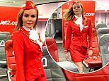 Amanda Holden dresses as a sexy air hostess in playful new video