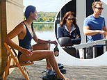 James Cracknell's ex-wife Beverley Turner stuns in plunging swimsuit and praises 'amazing' boyfriend