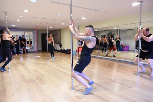 Pole-dancing fundraiser proves a hit with the gents