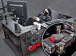 A really lazy boy! Ultimate gaming bed comes with energy wagon for snacks and desk for video screens