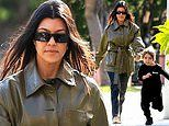 Kourtney Kardashian proves she's a stylish mom as she and son Reign enjoy a day out in WeHo