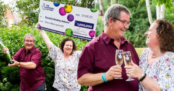 Couple win £1,000,000 in lottery day after being made redundant