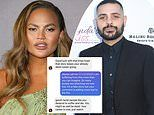 Chrissy Teigen's reps say DMs designer Michael Costello shared claiming she bullied him are fake