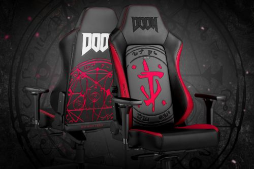 Noblechairs now has a Doom themed gaming chair and it's glorious