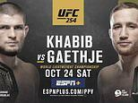 UFC 254 - Khabib Nurmagomedov vs Justin Gaethje: Date, time, channel, fight card and latest odds