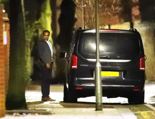 Arsenal chief Vinai Venkatesham and contract negotiator Fahmy leave Mikel Arteta's house after 1am talks over boss job