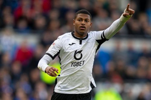 Rhian Brewster scores 19 minutes into home debut for Swansea