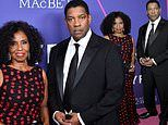 Denzel Washington and his wife Pauletta attend the NYC premiere of The Tragedy Of Macbeth