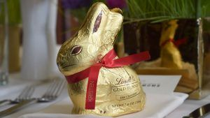 Lindt just released white and hazelnut Easter bunnies
