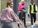 PICTURED: Billie Faiers, Denise Van Outen and Luke Trotman battling it out for Dancing On Ice 2021