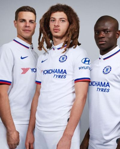 Chelsea unveil new 'Mod culture inspired' white Nike away kit. complete with polo shirt design
