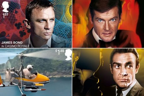 Latest James Bond movie No Time To Die immortalised with special set of stamps