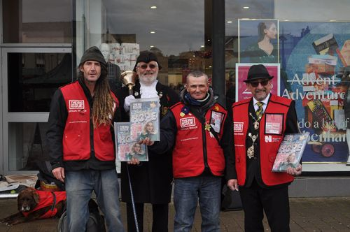 Truro public figures step into vendors' shoes in Big Issue Sell-Off
