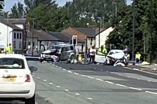 Two men killed in horror car crash involving taxi in Manchester