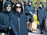 Liam Gallagher and fiancée Debbie Gwyther enjoy daily exercise