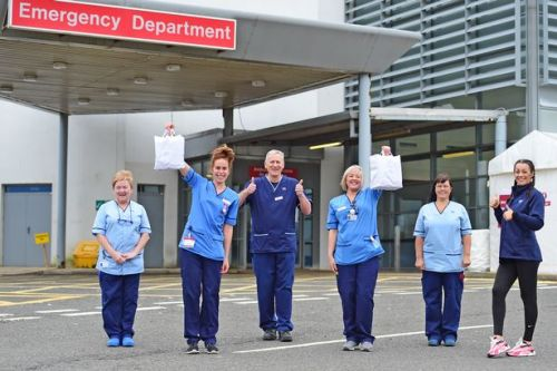 Kilmarnock charity gives free meals to heroic NHS staff at Crosshouse Hospital