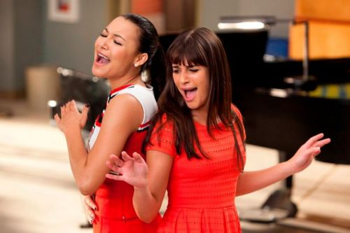 Lea Michele pays tribute to late Glee co-stars Naya Rivera and Cory Monteith