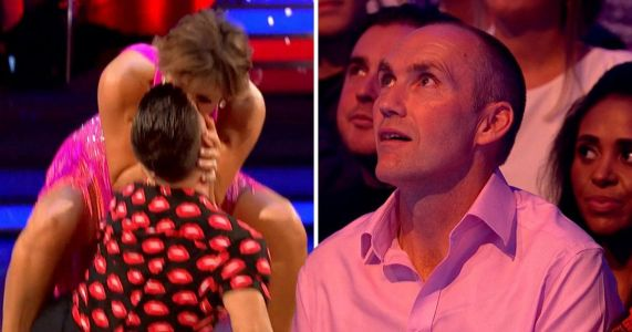 Strictly's Aljaz Skorjanec apologises to Kate Silverton's husband after cheeky peck during routine