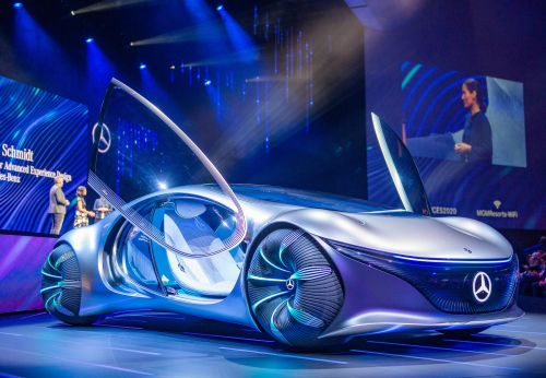 """Watch Mercedes-Benz's """"Avatar""""-inspired concept car drive without a steering wheel in a new testing video"""