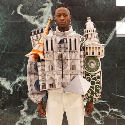 Virgil Abloh creates Paris landmark and skyscraper puffer jackets for Louis Vuitton