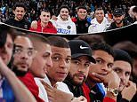 Kylian Mbappe, Neymar and their PSG team-mates sit courtside at first-ever NBA game in Paris
