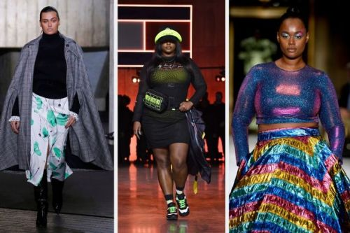 Plus size models take to the runway for AW20 for London Fashion Week