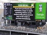 Cricket fans go into panic after an alarming notice about uncooked chicken flashes on the big screen