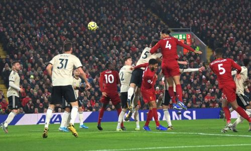 Liverpool 2 Man Utd 0: Virgil Van Dijk and Salah ensure Reds remain undefeated and move 16 points clear