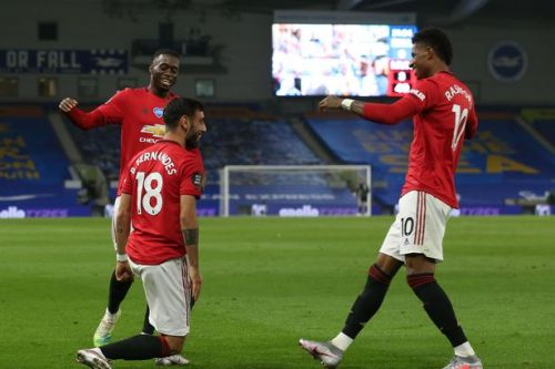 Video: Fernandes scores for Man United vs Brighton after clever Pogba assist