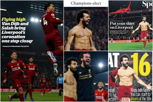 """Salah exorcises United ghost to put Reds """"back on their perch"""" - Media on Liverpool 2-0 Man United"""