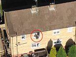 Dramatic moment police drone tracks down drug dealer as he leaps from window before being caught