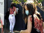 Ana de Armas rocks white jeans as she heads out from the Los Angeles home of boyfriend Ben Affleck