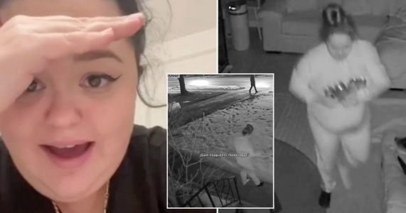 Woman sleepwalks into snow while dreaming she's having a pool party in hilarious TikTok clips
