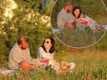 Jeff Brazier and wife Kate Dwyer appear in great spirits as they enjoy a romantic picnic