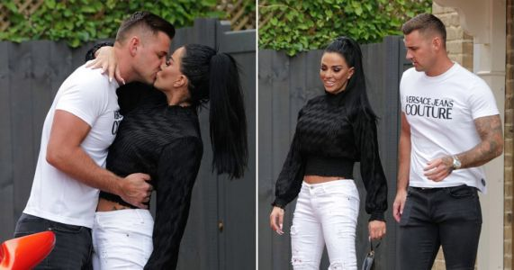 Katie Price makes Carl Woods romance official with passionate kiss before Sheesh date