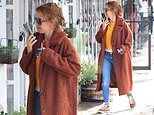 Isla Fisher cuts a casual-chic figure while running errands in Los Angeles