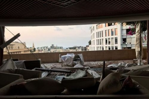 Scots businessman's luxury Beirut hotel lies ravaged by deadly blast