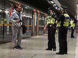 Police are seen cracking down on commuters not wearing face masks