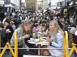 Diners pack into busy Soho streets to enjoy a late night out